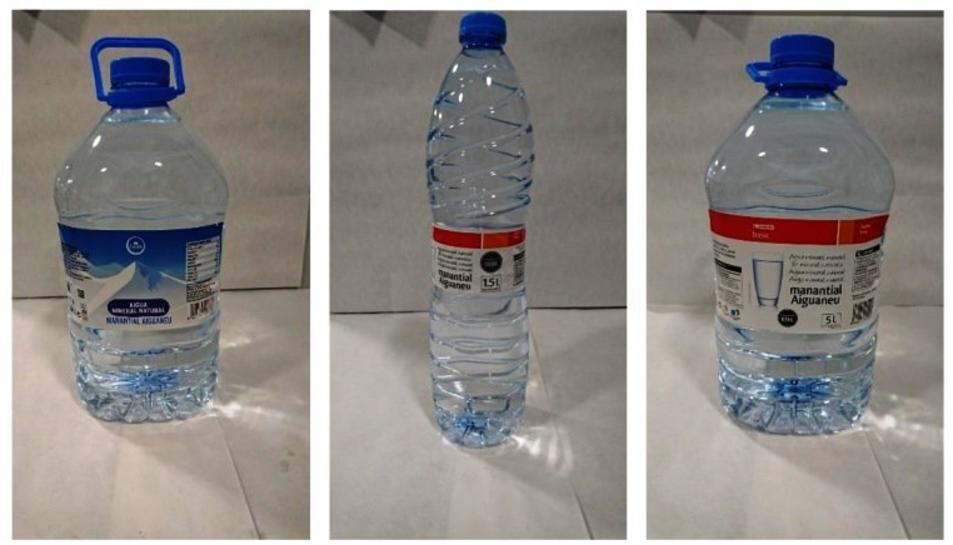 Imatge de les ampolla d'aigua retirades d'Eroski.