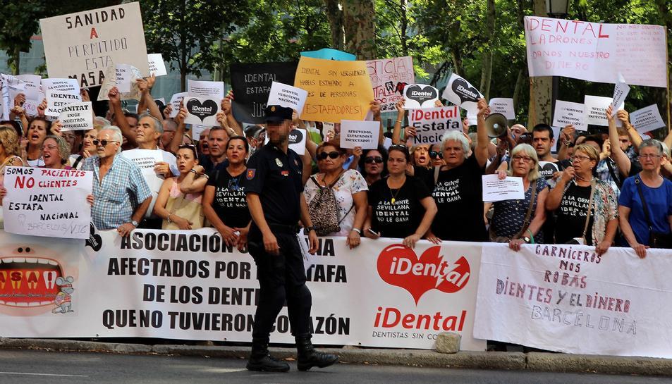 Afectats de tot l'Estat van portar la seva protesta a Madrid.