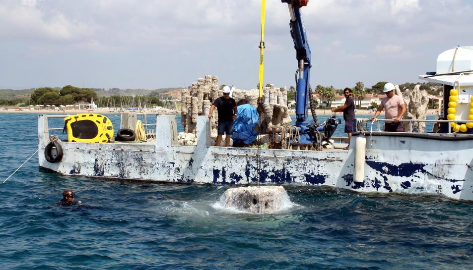 Altafulla ha instal·lat aquest divendres deu biòtops a la seva costa.