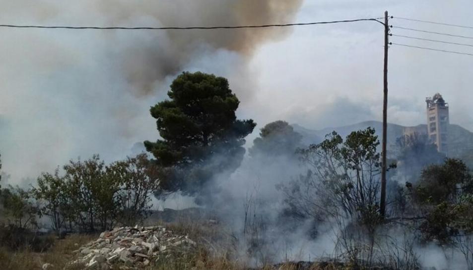 El foc només ha afectat vegetació