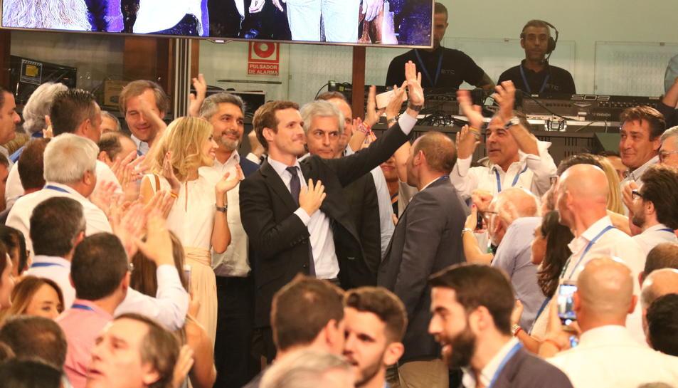 Pablo Casado, al Congrés Extraordinari per elegir el nou líder del PP.