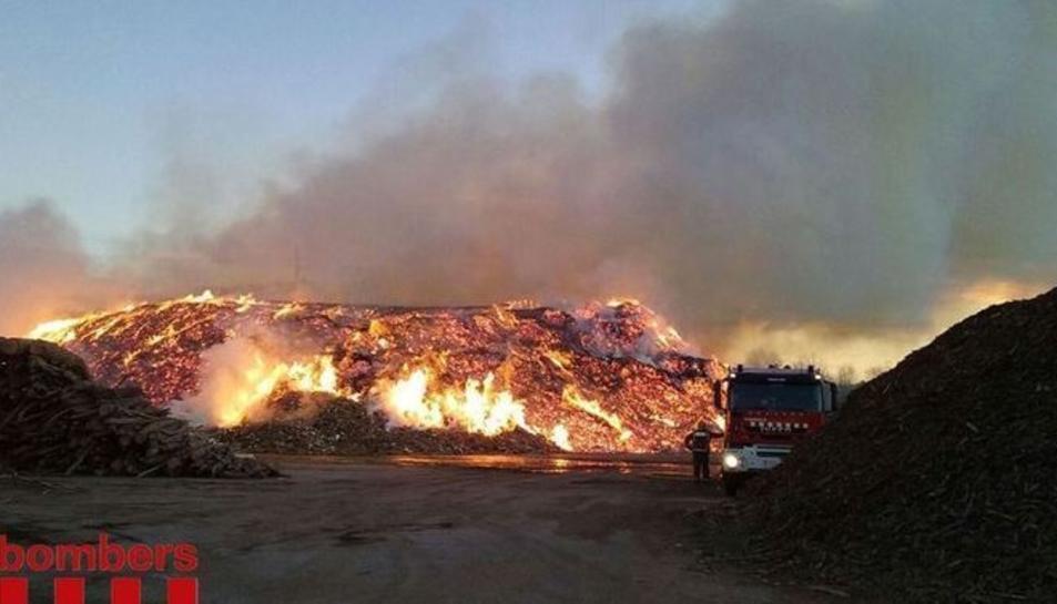 Imatge del 2009 de l'incendi forestal