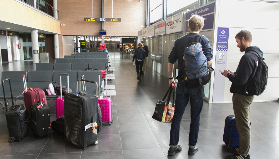 Una imatge d'arxiu de l'interior de la terminal de l'Aeroport.