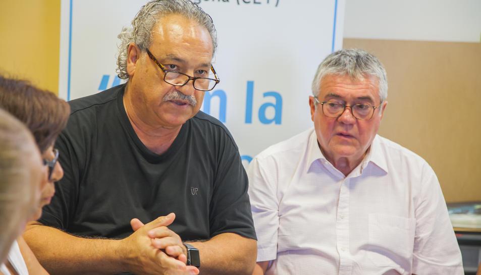 Juárez amb Roger Pla, gerent de la Regió Sanitària, en una reunió de la CET la setmana passada.