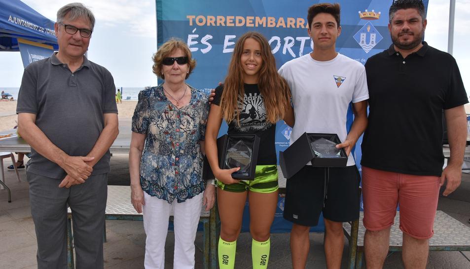 Pol Roch Tintoré i Laura Rodríguez guanyen la XIX Travessia Nedant de Torredembarra.