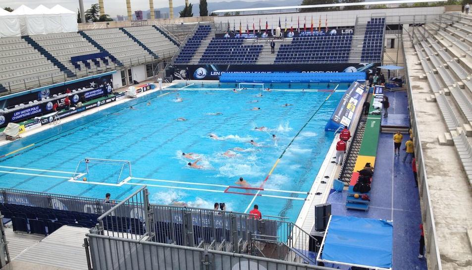 La imatge dels campionats de waterpolo pujada per Floria a les xarxes.