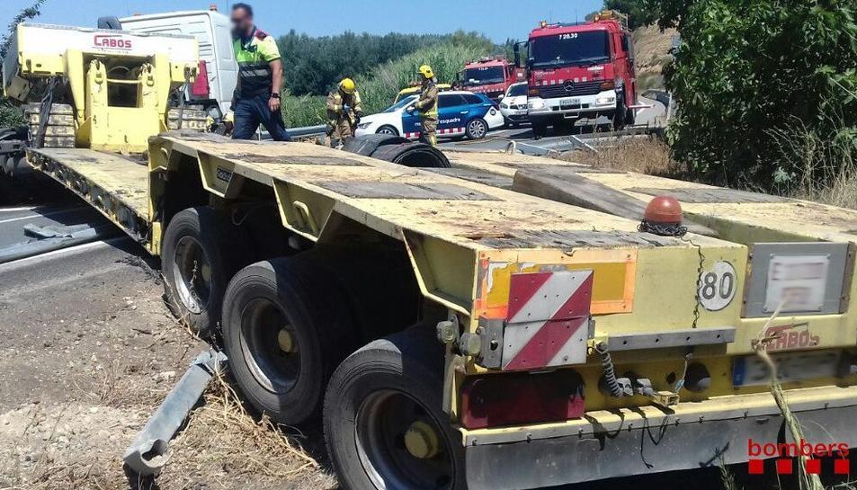 L'accident s'ha produït a la C-12 a l'alçada de Tivissa.