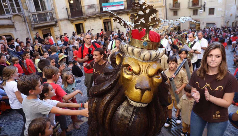 El Lleonet en una imatge de les festes de Santa Tecla de l'any passat.