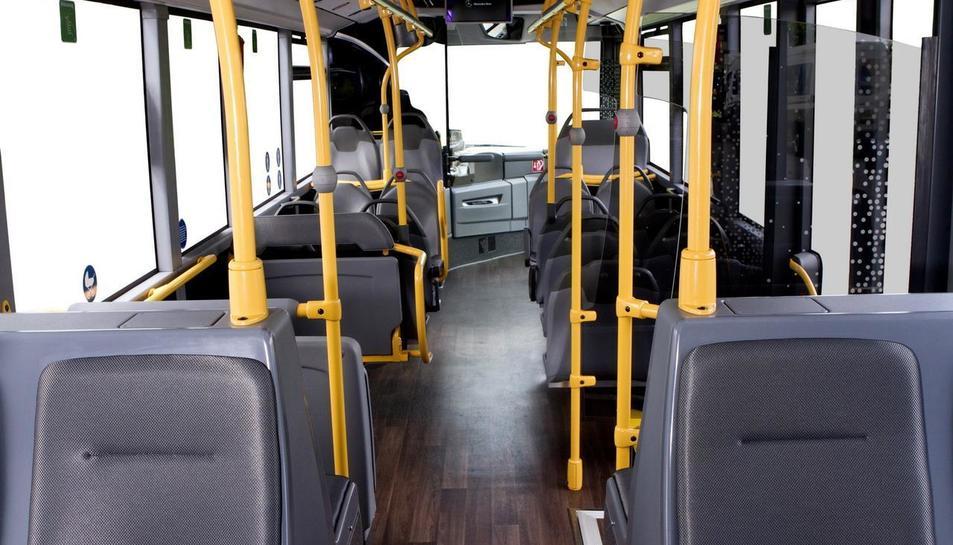 Imatge de l'interior dels nous busos de Reus Transport.