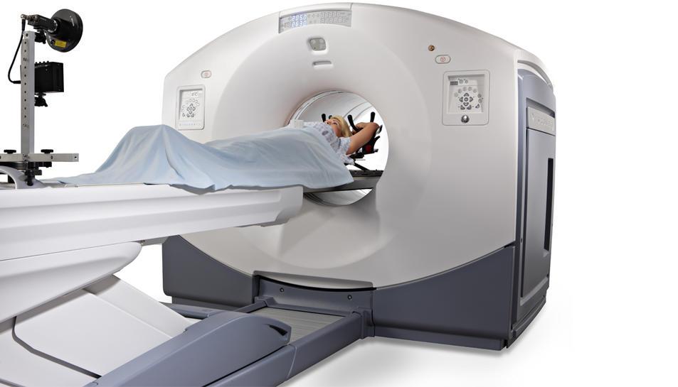 Imatge d'un aparell PET, similar al que s'utilitza a l'Hospital Sant Joan, de Reus.