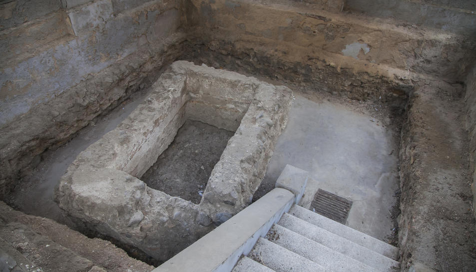 Aspecte que oferia ahir la cripta romana del Mausoleu.