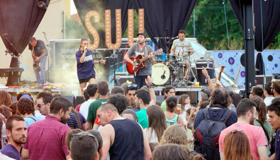 El grup Suu en la seva actuació al Festival Coordenades.