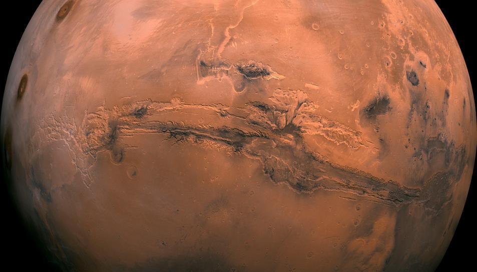 Imatge del planeta Mart.