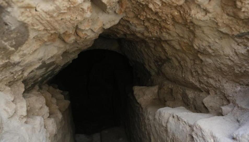 La cavitat documentada a la segona fase de la intervenció arqueològic a l'antic solar de la caserna de la Guàrdia Civil a Tarragon