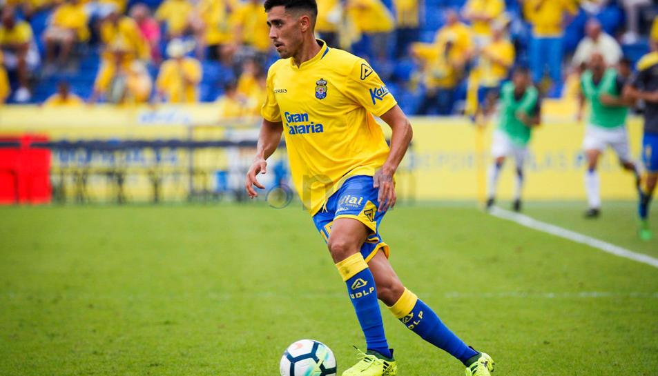 Herrera va disputar la primera meitat del curs anterior amb Las Palmas abans de marxar cedit.