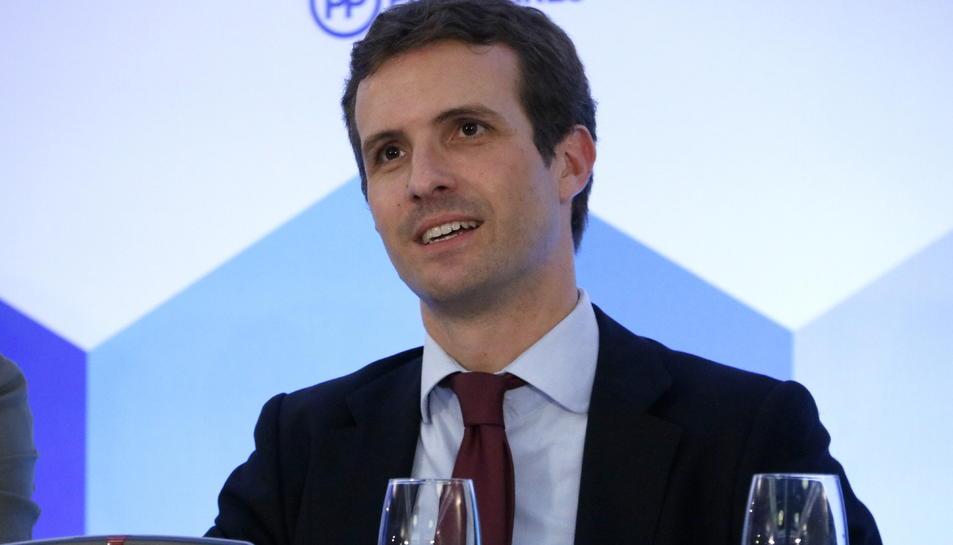 El president del PP Pablo Casado al Consell Executiu Nacional del partit.