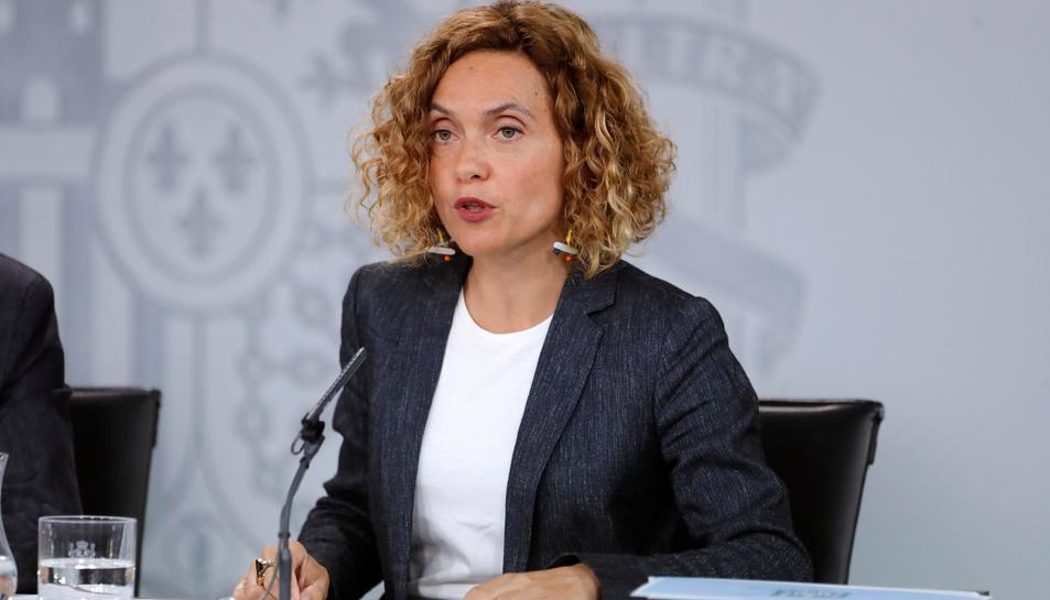La ministra de Política Territorial y Función Pública, Meritxell Batet, en el Palacio de La Moncloa.