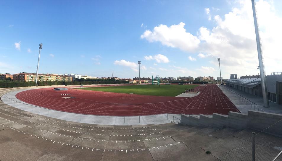 Imatge del remodelat Estadi d'Atletisme de Campclar.