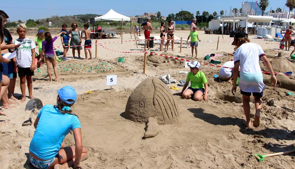Imatge del Concurs de Castells de Sorra d'Altafulla.