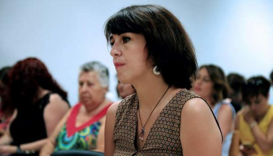 Juana Rivas, al Jutjat Penal 1 de Granada durant el judici.