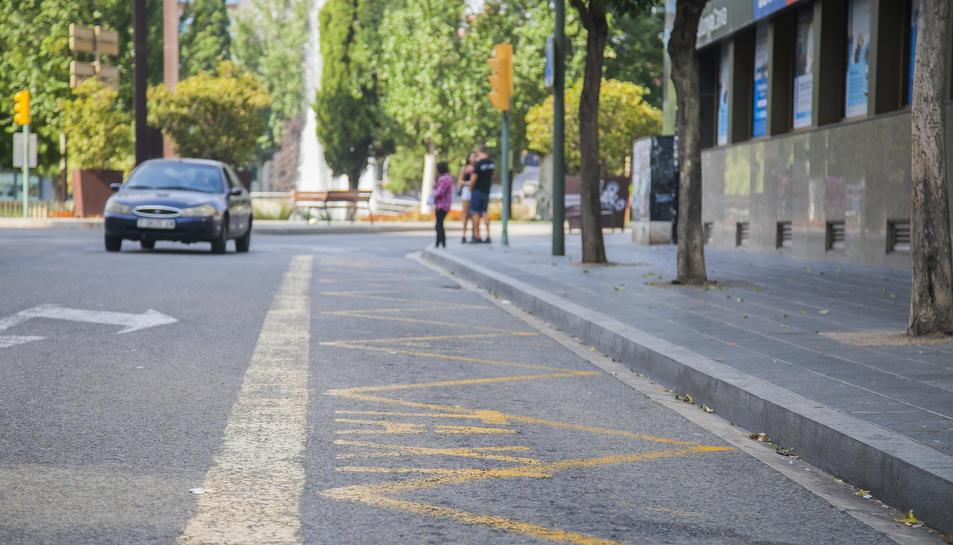 Estat que presentava ahir una de les parades de taxi de Tarragona ciutat, durant la primera jornada de vaga.