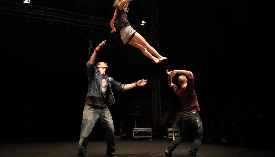 Tres artistes que han participat en la 14a edició del Festival Deltebre Dansa.