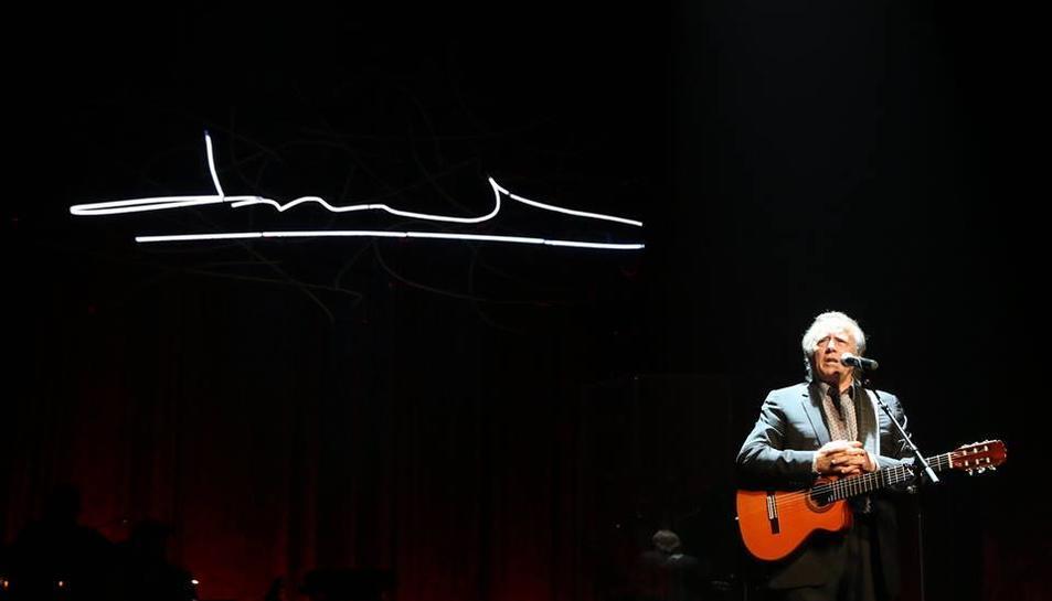 Imatge d'un dels darrers concerts de Joan Manuel Serrat.