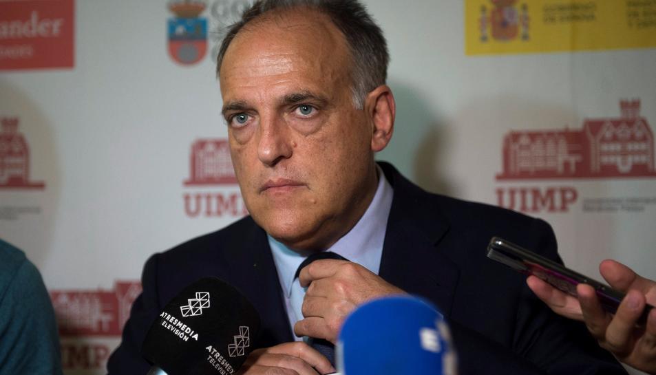 Imatge de Javier Tebas, president de la Liga de Fútbol Profesional.