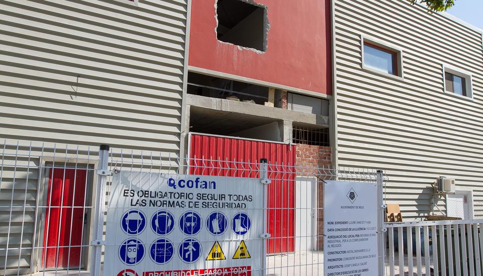 L'estat actual de les feines, que s'aturaran durant l'estiu, a l'espai localitzat al polígon Granja Vila.