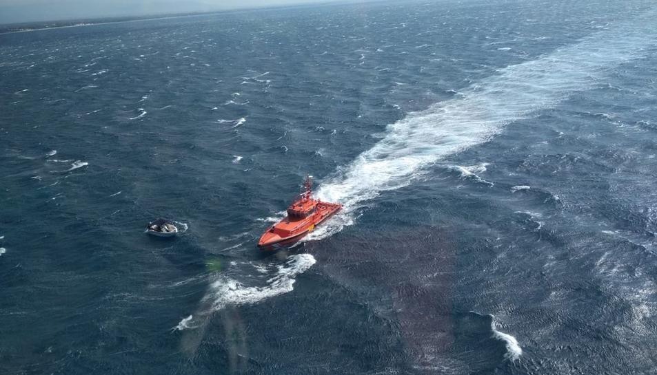 Imatge d'arxiu d'un rescat de Salvament Marítim
