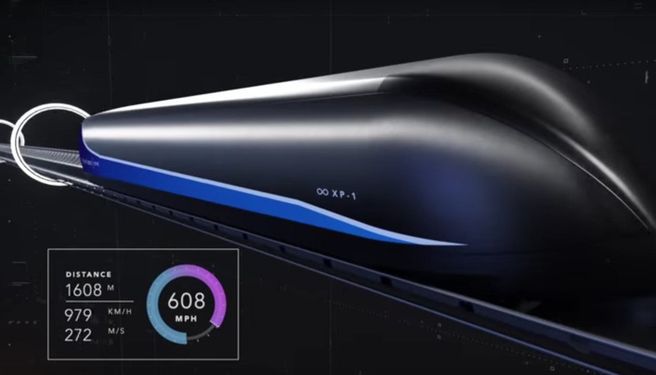 Imatge de les proves de Virgin Hyperloop One.