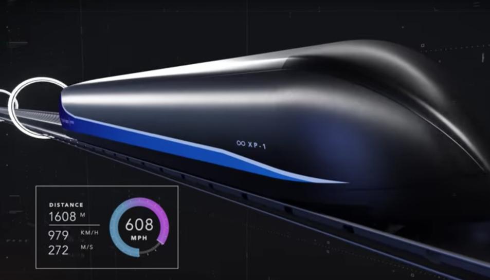 Imatge de les proves de Virgin Hyperloop One.