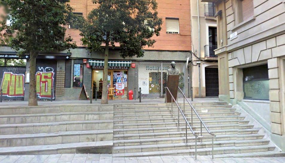 Imatge de la plaça Narcís Oller, al barri de Gràcia.