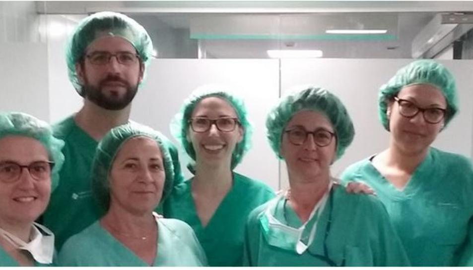L'equip de cirurgians toràcics del Joan XXIII.