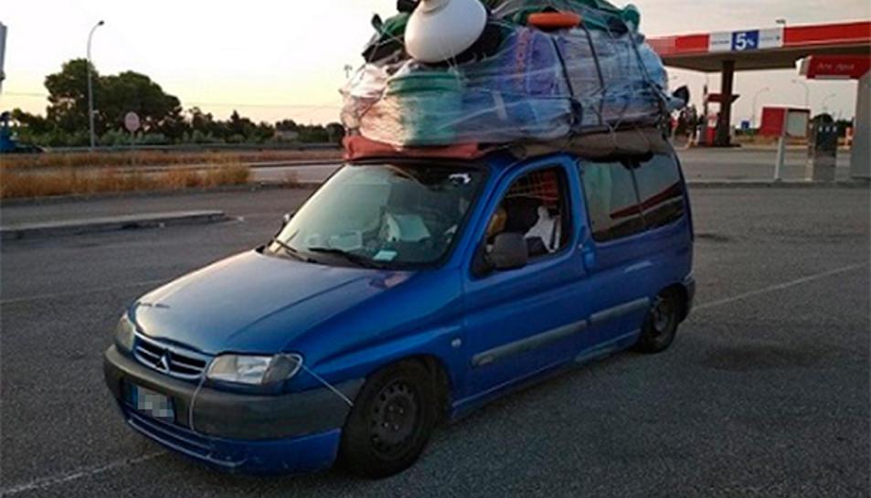Eel vehicle denunciat per excés de pes a Amposta aquest 4 d'agost.