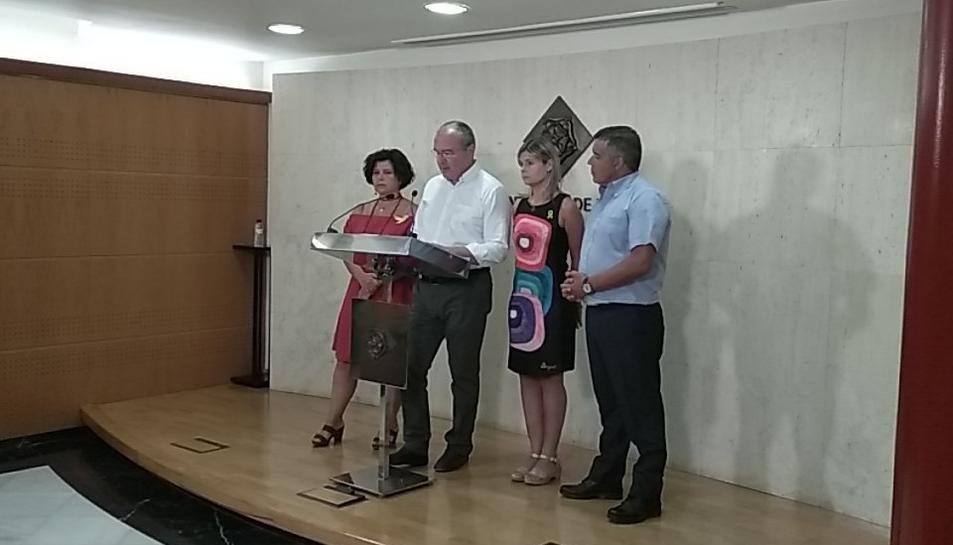 Imatge de la compareixença d'urgència de Carles Pellicer.