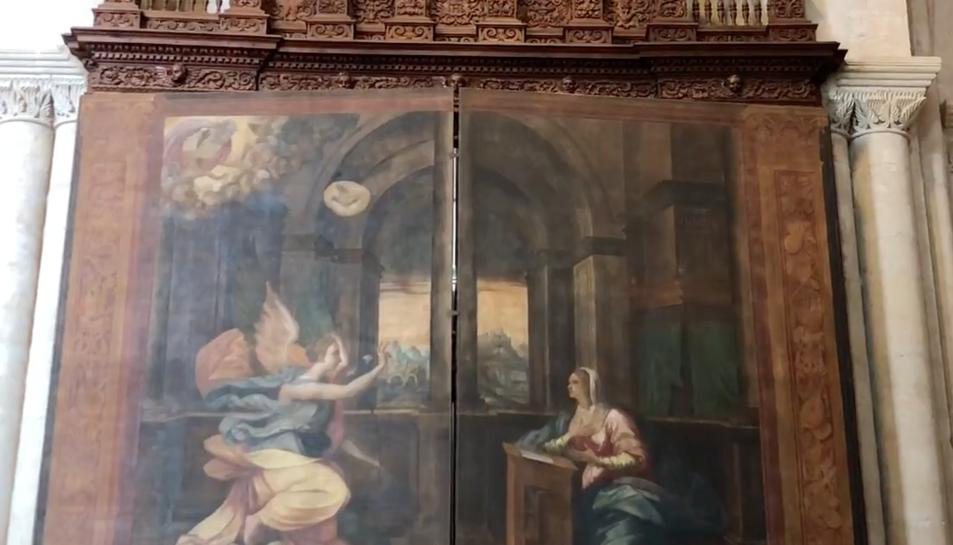 Les pintures ja llueixen a l'orgue de la Catedral