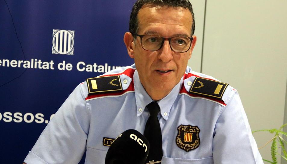 El portaveu dels Mossos d'Esquadra, l'inspector Albert Oliva, en una entrevista amb l'ACN.