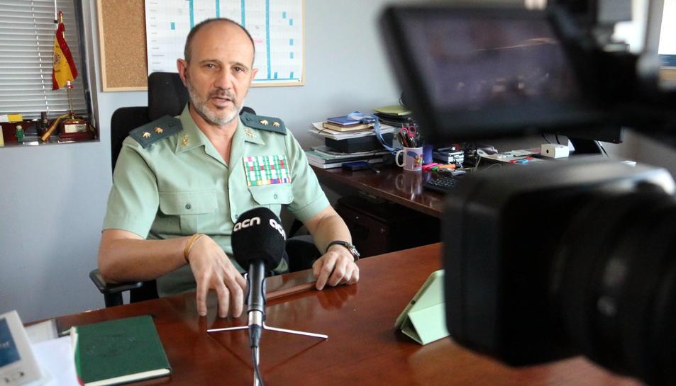 El tinent coronel Francisco Vazquez, cap de la unitat de la lluita contra el terrorisme de la Guàrdia Civil.