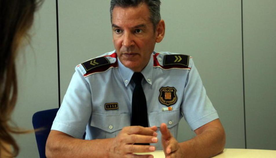 El sergent dels Mossos d'Esquadra Xavier Pérez, que va actuar a la Rambla el 17-A.