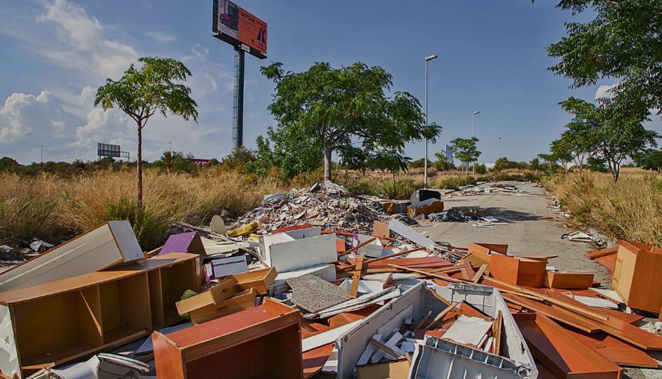 Imatges d'ahir dilluns al migdia, on s'aprecia una petita part dels centenars de quilos acumulats.