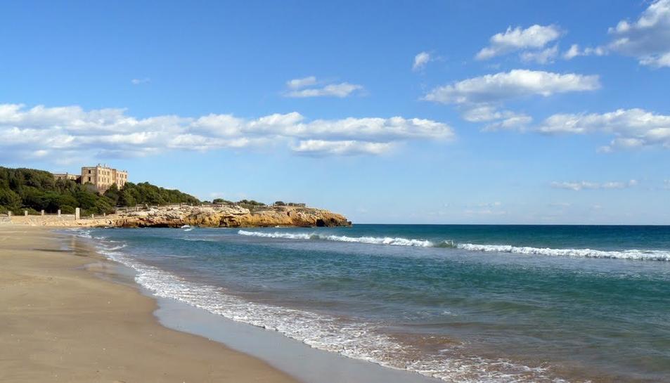 Imatge d'arxiu de la platja de l'Arrabassada.
