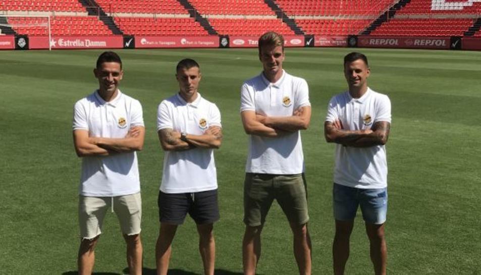 Els quatre capitans granes per la temporada 2018-2019.