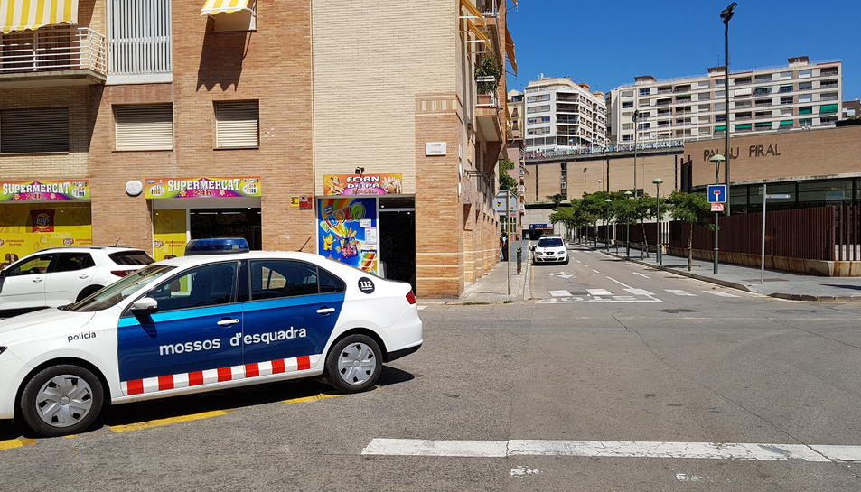 Mossos i Guàrdia Urbana van realitzar ahir dimecres al migdia una intervenció al parc proper al carrer Orosi.