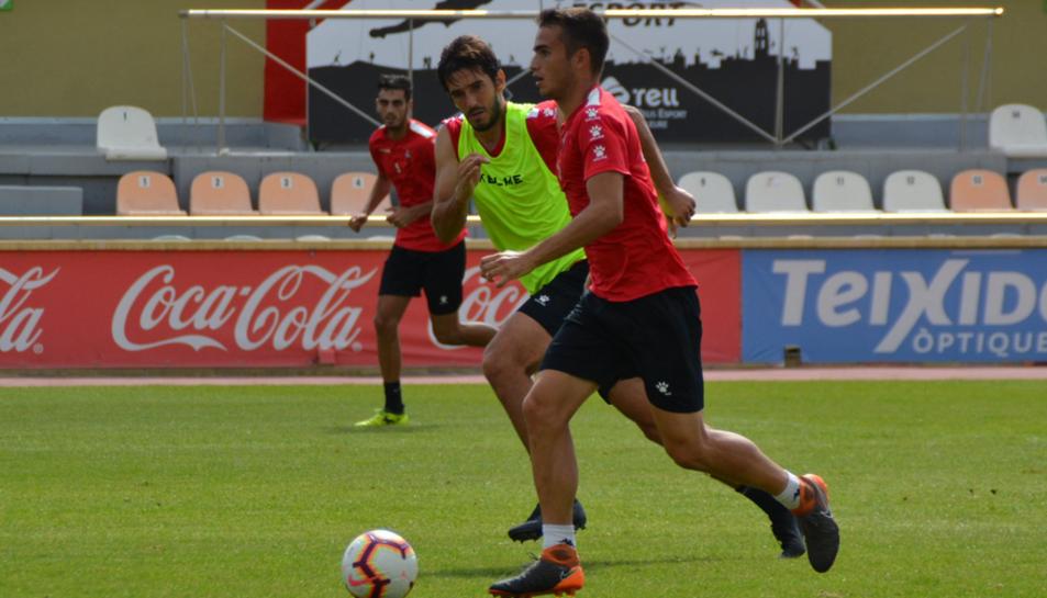 El CF Reus s'ha entrenat aquest dijous i es mostra optimista de cara al partit de diumenge.