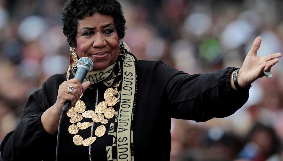 Aretha Franklin durant un concert l'any 2011.