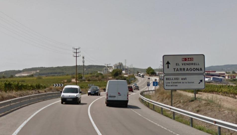 L'accident s'ha produït al quilòmetre 1.198 en sentit Tarragona.