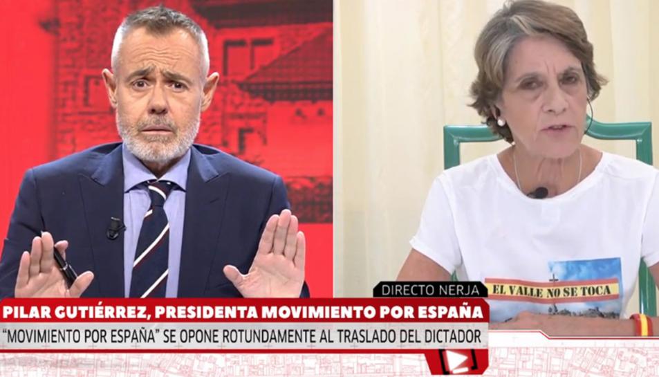 El presentador Jordi González i Pilar Gutiérrez.