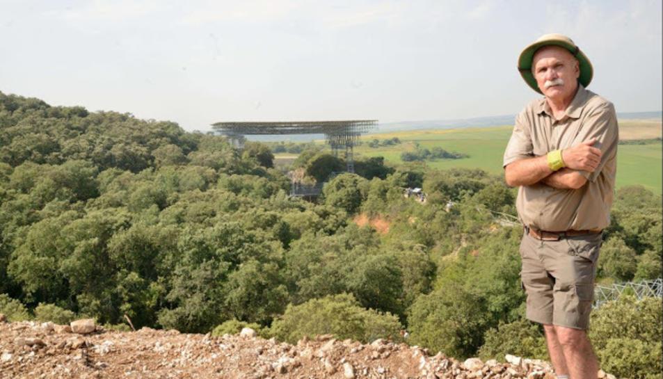 L'arqueòleg Eudald Carbonell aquest juliol a Atapuerca.
