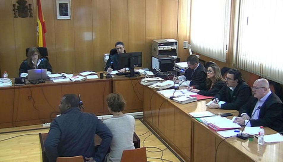 Imatge d'arxiu de la declaració de l'home acusat de matar una noia a Salou.